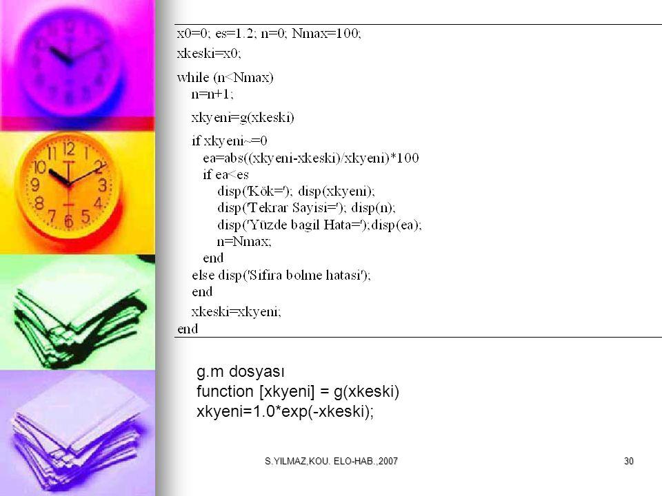 function [xkyeni] = g(xkeski) xkyeni=1.0*exp(-xkeski);